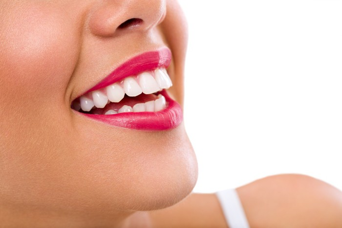 Laughing woman with great teeth