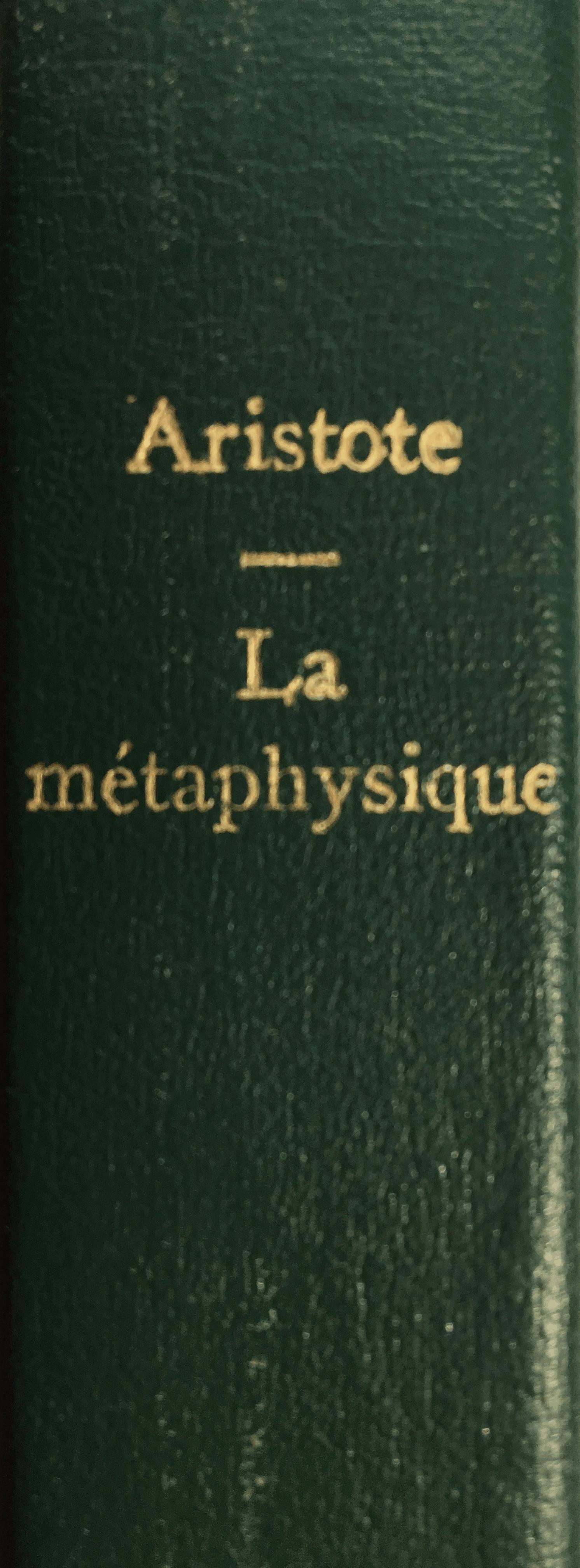 AristoteMétaphysiqueLivreÉpine