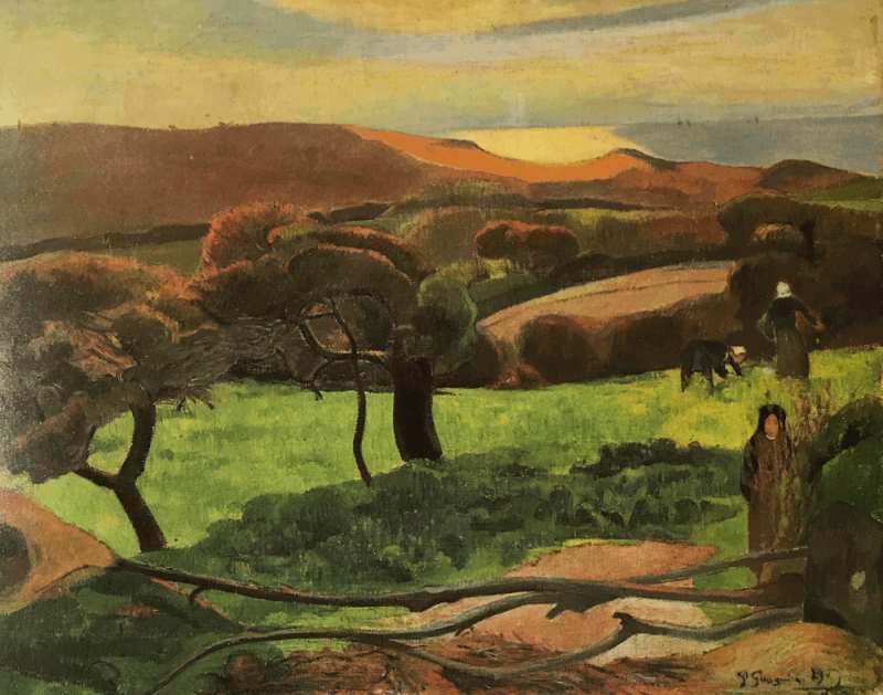 Gauguin-Champ-Au-Bord-de-la-mer