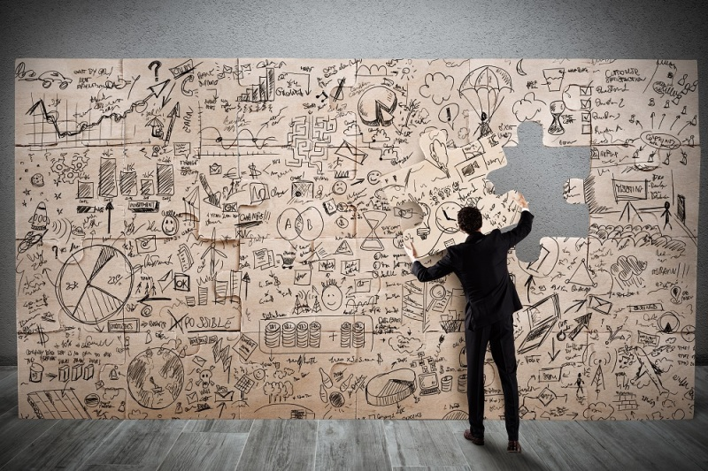 man-placing-piece-in-large-mindmap-jigsaw