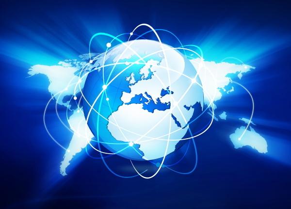 Planisphère et connexions symbole du réseau