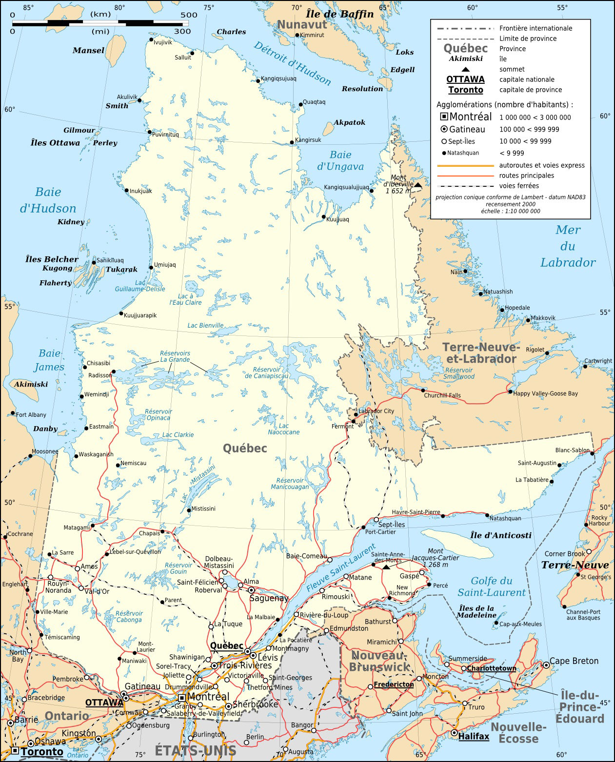 Quebec_province_transportation_and_cities_map-fr